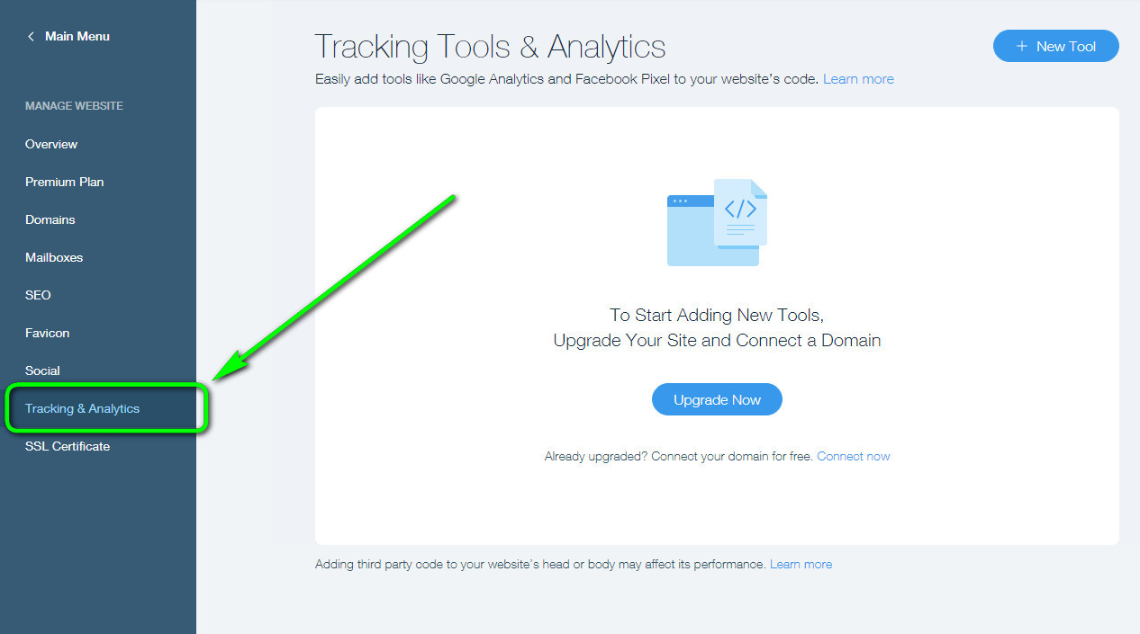 Wix Tracking & Analytics